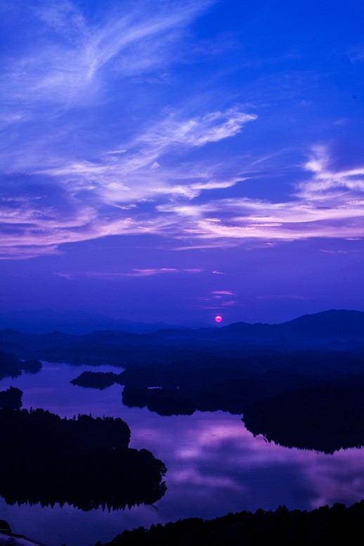 仙女湖日落
