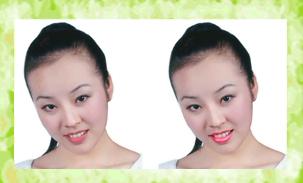 【PS教程】数码照片艺术处理大全(实例24 透明唇彩) - 华华中华 - 博缘