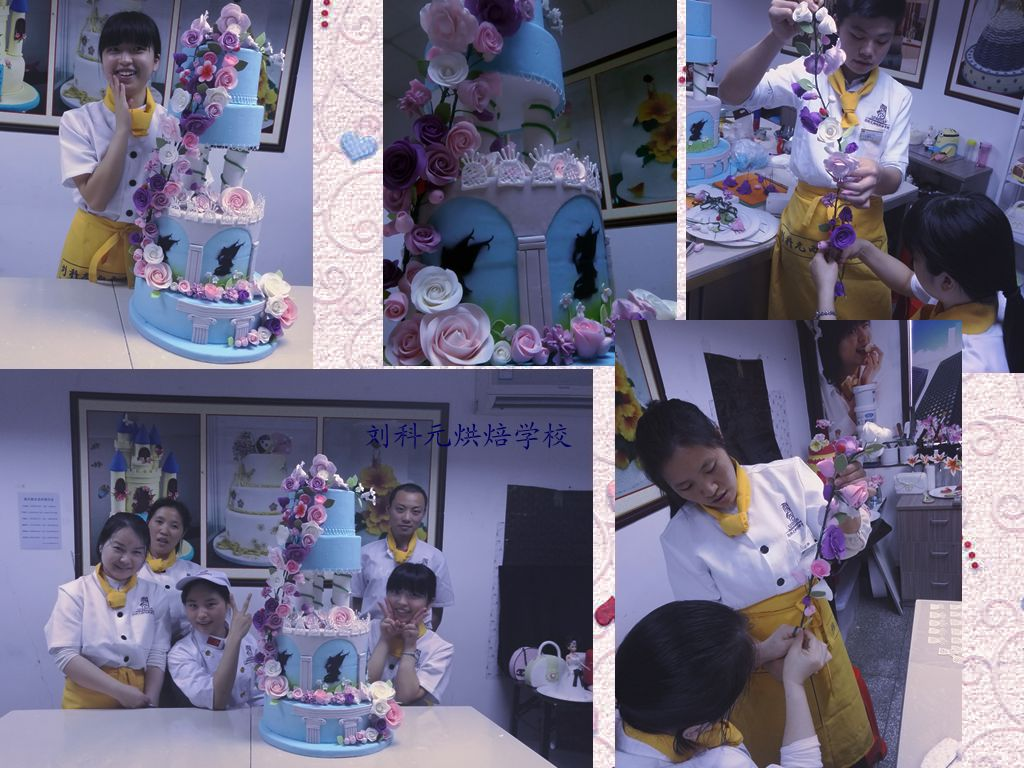深圳翻糖蛋糕培训学校,翻糖烘焙糕点学校,韩式蛋糕