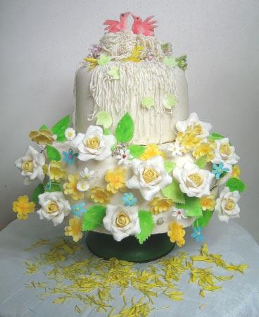 婚礼蛋糕图片/深圳刘科元西点蛋糕烘焙学校