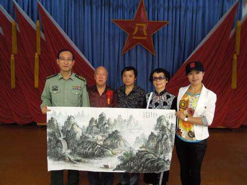 陈清泉国画被解放军三军仪仗队收藏