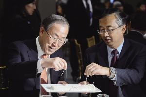 中国美食走进联合国 展示中华饮食文化