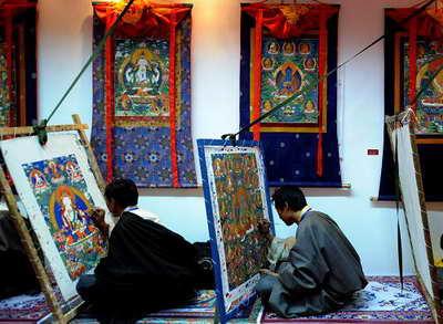 西藏唐卡艺博会提供学习和交流平台