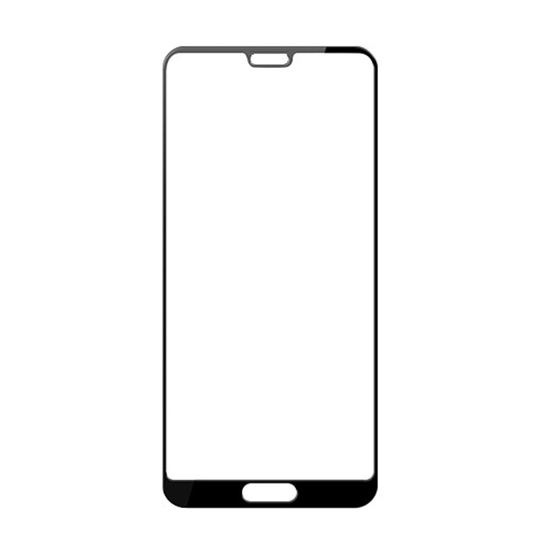华为P20 pro钢化膜 全屏覆盖 加强型全胶手机保护贴膜 防爆防指纹高清钢化玻璃膜 (P20 pro黑色) 二强丝印手机贴膜钢化膜