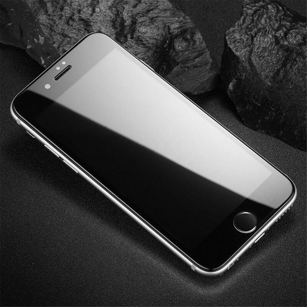 苹果iPhone7/8/4.7全屏大弧满屏冷雕带防尘网钢化膜  iPhone XR钢化膜 苹果 7/8/4.7 全屏膜 曲面全覆盖高清手机膜 玻璃防爆贴膜 耐用防划保护膜 9H硬度 圆边设计 适用于Apple
