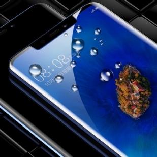 华为mate20 PRO曲面全胶手机贴膜钢化膜  0.3mm超薄 日本旭硝子 9H硬度防爆防刮花 高清清透保护膜 HUAWEI mate20 Pro适用