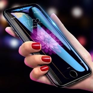 苹果iPhone6/4.7全屏大弧满屏9D二强丝印手机贴膜钢化膜