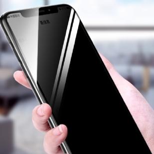 iPhoneX/XS5.8防窥全屏大弧满屏2.5D二强丝印手机贴膜钢化膜