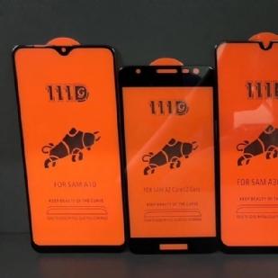 三星A10全屏大弧满屏111D二强丝印手机贴膜钢化膜