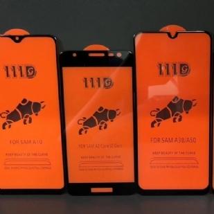 三星A2core全屏大弧满屏111D二强丝印手机贴膜钢化膜