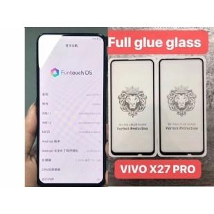 VIVO X27PRO狮子头全屏大弧满屏9D二强丝印手机贴膜钢化膜