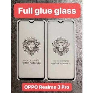 OPPOREAIME3PRO狮子头全屏大弧满屏9D二强丝印手机贴膜钢化膜