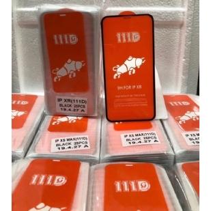 苹果IPHONE XR全屏大弧满屏111D二强丝印手机贴膜钢化膜