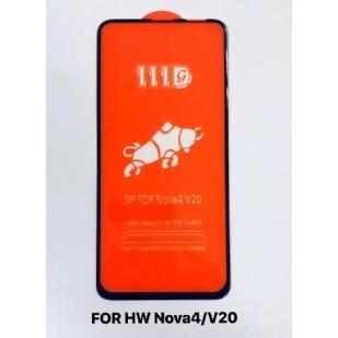 华为Nova4/V20全屏大弧满屏111D二强丝印钢化膜
