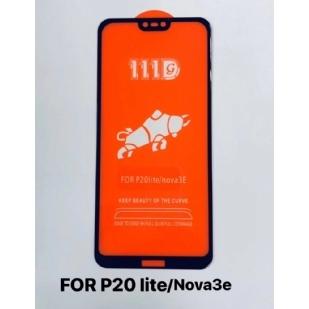 华为p20liteNOVE 3E全屏大弧满屏111D二强丝印手机贴膜钢化膜