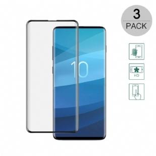 三星S10e钢化膜 全屏曲面 SAMSUN 防爆膜 耐用防划 S10e  手机膜 手机屏幕保护膜 3D超清晰9H硬度 无气泡 圆边设计 适用于三星S10e (标准全屏版/缩小版)
