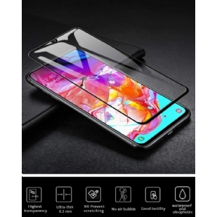 三星 Galaxy A70 屏幕保护膜,三星 Galaxy A70 钢化玻璃 9H 硬度 [ 适合手机壳 ] [ 防刮 ] 不起泡] 适用于三星 Galaxy A70