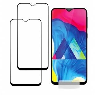 三星M10全屏大弧满屏9D二强丝印手机贴膜钢化膜三星 Galaxy A10 手机贴膜钢化玻璃,CaseExpert 钢化玻璃水晶透明屏幕保护膜适用于 Samsung Galaxy A10/M10
