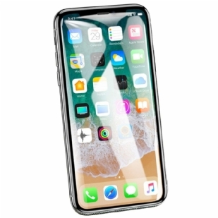 苹果iPhone X/XS手机贴膜钢化膜 苹果iPhone X通用 曲面冷雕全屏覆盖 iPhone X钢化玻璃贴膜 苹果iPhone X防爆膜 耐用防划保护膜 9H硬度 圆边设计 附适用于Apple iPhone X 5.8英寸 (iPhone X钢化膜)