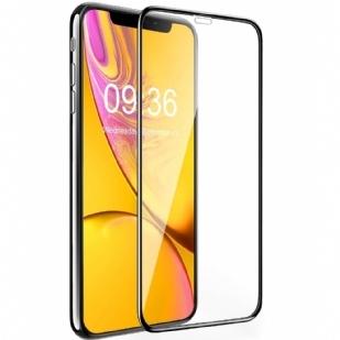 苹果iPhoneXR6.1全屏大弧满屏9D二强丝印手机贴膜钢化膜 iPhone XR 屏幕保护膜,[9D 全覆盖]钢化玻璃屏幕保护膜适用于苹果 iPhone XR (2018) 6.1 英寸安装框架 [9H 硬度] [无气泡]
