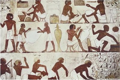 金字塔法老墓壁,神庙廊柱上的画见长