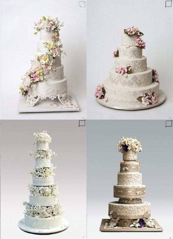 花边串珠系列的婚礼蛋糕,传统而可爱,我想也是很多准新娘的最爱.