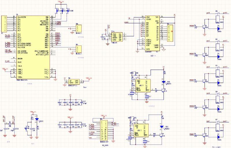 主要包括光线信号采集,红外,还有stm32最小系统,另外加上继电器控制