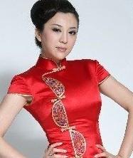 巧之韵-红扣经典长旗袍