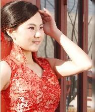 巧之韵盘龙锦新娘旗袍