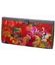 中式织锦长方形铁夹钱包