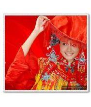 红盖头-新娘结婚大红盖头-喜帕-婚庆盖头-红色喜帕-中式婚礼盖头