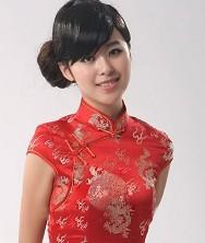 大家闺秀.龙凤经典锦缎新娘旗袍