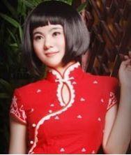 纯棉红色改良新娘旗袍