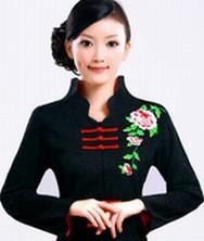芸香 粗纺棉麻开领 巧之韵中式唐装女士秋装 民族风女装外套上衣