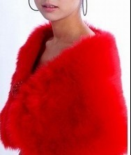 奢华品质~柔软温暖!红色新娘披肩礼服披肩旗袍披小礼服披肩-419