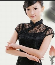巧之韵黑色蕾丝旗袍裙 秋季新款两件套 2011秋装限量款