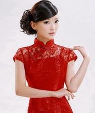 巧之韵红色蕾丝旗袍裙 秋季新款两件套 2011秋装限量款