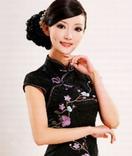 巧之韵芙蓉 刺绣改良时尚旗袍