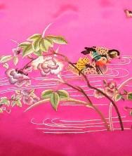 披肩 纯真丝 真丝重缎 精品蜀绣 鸳鸯戏水 蝴蝶图案