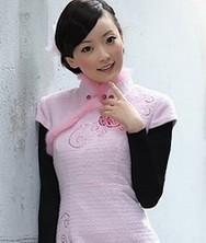花之梦 兔毛夹棉 巧之韵冬装民族风新款旗袍裙