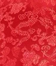 巧之韵满地小龙真丝织锦面料,唐装专用面料