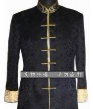 龙年男士唐装巧之韵 黑色龙纹唐装 中式服饰