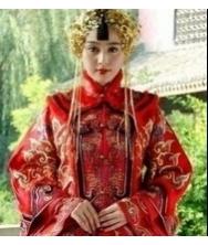 胭脂雪 范冰冰 中式婚礼服 巧之韵秀禾服装 凤冠霞帔 手工刺绣