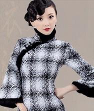 风韵羊绒 冬装新款【巧之韵】高档兔毛时尚改良旗袍