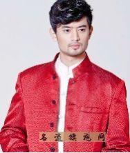巧之韵 梦回唐朝红色织锦缎中华立领装