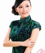 意朦胧 进口丝绒 巧之韵时尚改良旗袍