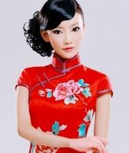 巧之韵 重磅真丝.红袖全手工蜀绣 旗袍礼服