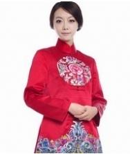 巧之韵蜀绣唐装 纯手工绣花新娘嫁衣中式礼服红色娘子桑蚕丝高级唐装礼服
