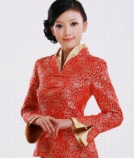 云锦 中式双领外套上衣 巧之韵改良唐装女士秋装 民族风女装中国风