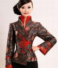 巧之韵真丝织锦缎唐装 改良中式棉衣上衣唐装女士秋冬装 民族风女装